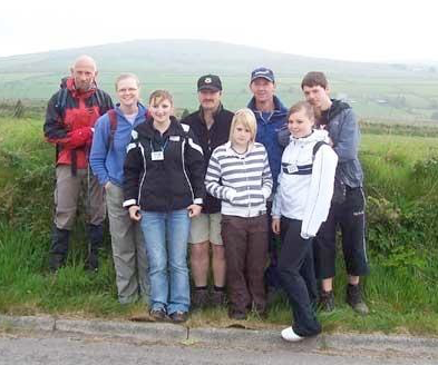 Bodmin's ten tors, with some of the Band